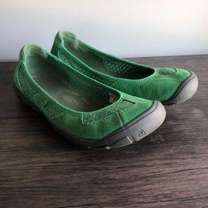 Keen Green Mercer Ballerina Flat Shoe 8